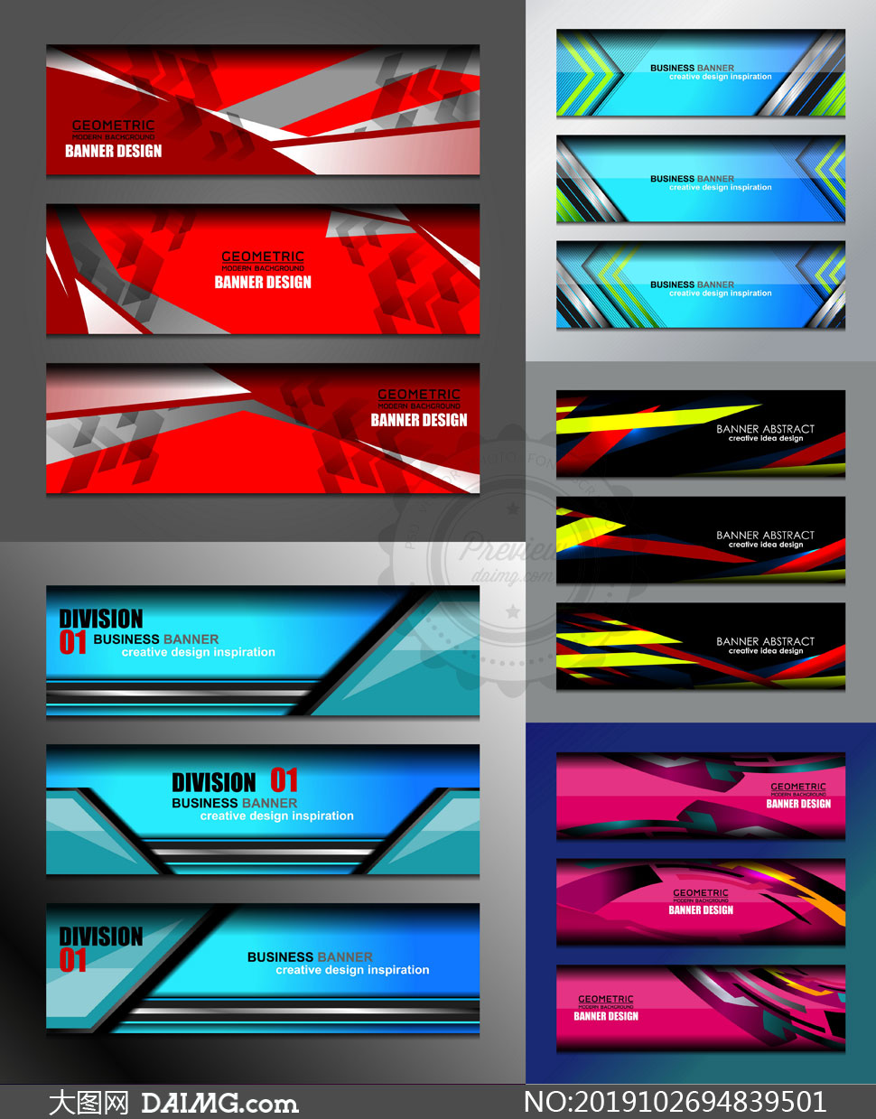 多款BANNER版式设计矢量素材集V09