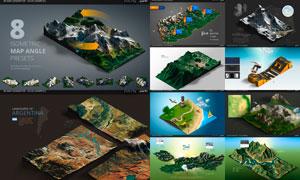 逼真的3D地圖生成器PS擴展插件