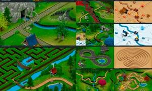 3D風格游戲地圖生成器PS擴展插件