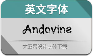 Andovine(英文字体)
