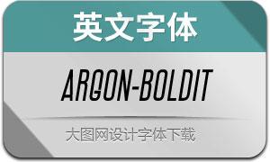 Argon-BoldItalic(英文字体)