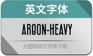 Argon-Heavy(英文字体)