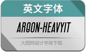 Argon-HeavyItalic(英文字体)