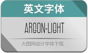 Argon-Light(英文字体)
