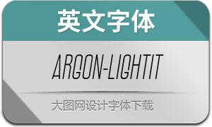 Argon-LightItalic(英文字体)