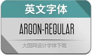 Argon-Regular(英文字体)