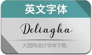 Deliagha(英文字体)