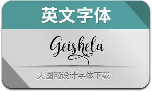 Geishela(英文字体)