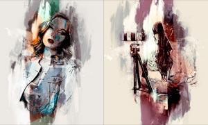 人像添加涂抹绘画艺术效果PS动作V2