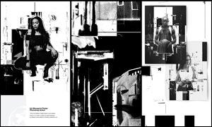 创意的现代风格黑白人像海报设计PS动