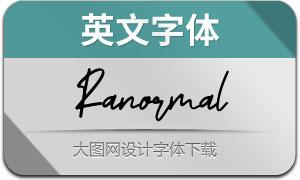 Ranormal(英文字体)