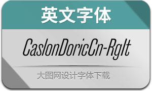 CaslonDoricCn-RegularIt(英文字体)