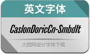 CaslonDoricCn-SmbdIt(英文字体)