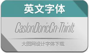 CaslonDoricCn-ThinItalic(英文字体)
