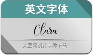 Clara(英文字体)