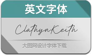 ClathynKeithSignature(英文字体)