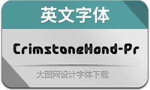 CrimstoneHand-Printed(英文字体)