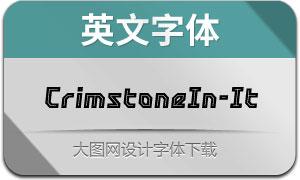 CrimstoneInline-Italic(英文字体)