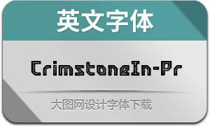 CrimstoneInline-Printed(英文字体)