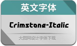 Crimstone-Italic(英文字体)
