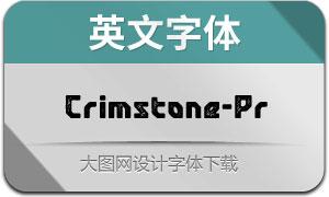 Crimstone-Printed(英文字体)