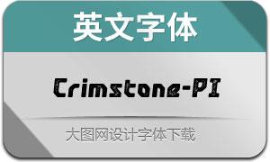 Crimstone-PrintedItalic(英文字体)