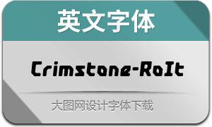 Crimstone-RoundedItalic(英文字体)