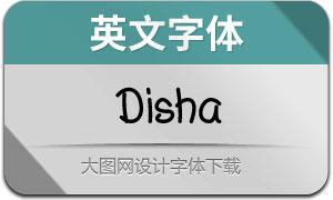Disha(英文字体)