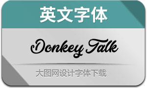 DonkeyTalk(英文字体)