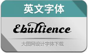Ebullience(英文字体)