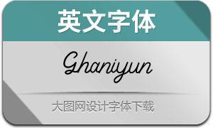 Ghaniyun(英文字体)