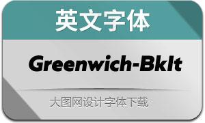 Greenwich-BlackItalic(英文字体)