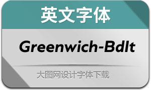 Greenwich-BoldItalic(英文字体)