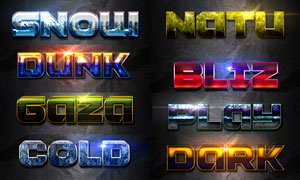 12款科技感十足的文字设计PS样式V4