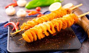 龙卷风薯塔美食摄影图片