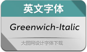 Greenwich-Italic(英文字体)