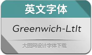 Greenwich-LightItalic(英文字体)