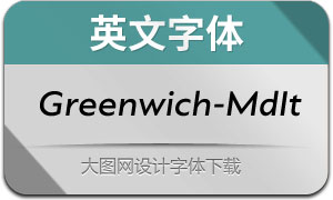Greenwich-MediumIt(英文字体)