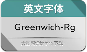 Greenwich-Regular(英文字体)