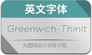 Greenwich-ThinItalic(英文字体)