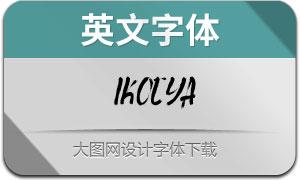 Ikocya(英文字体)