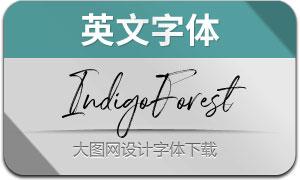 IndigoForest(英文字体)