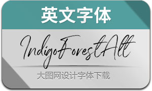 IndigoForestAlt(英文字体)