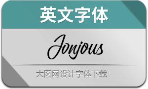 Jonjous(英文字体)