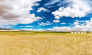 金子海景区草原风光全景摄影图片