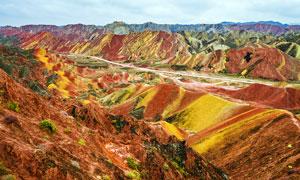 张掖丹霞地貌景观摄影图片