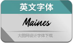 Maines(英文字体)