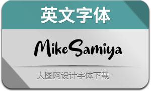 MikeSamiya(英文字体)