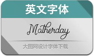 Motherday(英文字体)