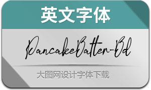 PancakeBatter-Bold(英文字体)